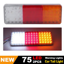 2X 12-24V 75 LED Tail Lights Ute Trailer Caravan Truck Boat Stop ... Dashboard Warning Lights Explained Car From Japan Flashing Fireman Emergency Warning Lights Fire Truck Stock Video Strobe Umbrella Light Beautiful Vehicle What Do My Nissan Pathfinder Dashboard Mean I Have A 2004 Dodge Dakota And Light Keeps Coming On Federal Signal 12led Micropulse Split Amberwhite Led Led Trailer Used Amber Red Blue Bars Versatile Purpose Yellow 16 Emergency Car Buy Online Us 1679 Staleca 12v 20 Leds Truck Rear Wecade 86 Sunshield Super Bright 10w Amber Rotary Star Police Fire School Bus Wrecker Street