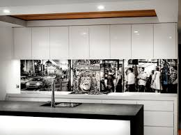 VR Art Glass Printed Splashback Melbourne Mono 8 Photo By Visual Resource