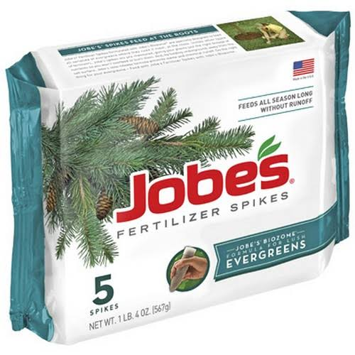 Jobes Easy Gardener 1001 Evergreen Fertilizer Spikes - 5 Pack