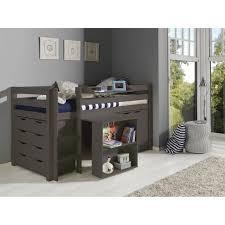 m bureau enfant pino lit combiné enfant contemporain en bois pin massif gris