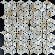 of pearl shell tile iridescence seashell mosaic 3d