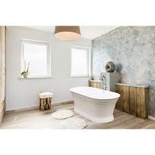 Ferguson Walk In Bathtubs by Jacuzzi Lyndsay White Acrylic Oval Freestanding Bathtub With