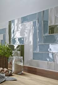 For A Classic Country Cottage Look With Twist These Rustic Gloss Wall Tiles Add