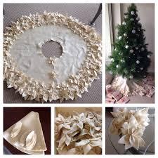 My Attempt At Poinsettia Christmas Tree Skirt In Felt