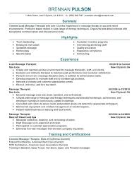 Resume Objective Examples For Massage Therapist Together With Beauty