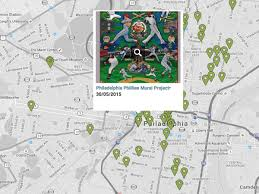 here s a map of all the maps of philly s public art
