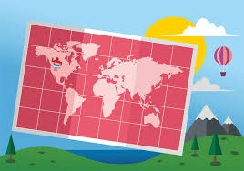 100 Mundi Design Folded World Map Mapa Vector Download Free Vector Art