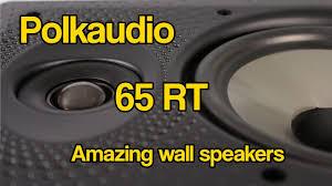 Polk Audio Ceiling Speakers Sc60 by Polkaudio 65 Rt In Wall Speaker Youtube