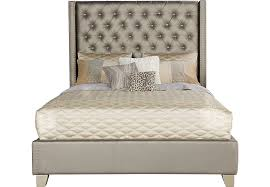 sofia vergara paris silver 3 pc upholstered queen bed beds colors