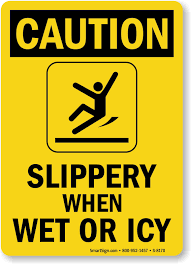 Caution Wet Floor Banana Sign by Slippery When Wet Signs Wet Floor Signs