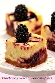 Pumpkin Swirl Cheesecake Bars by Blackberry Swirl Cheesecake Bars Suzie Sweet Tooth