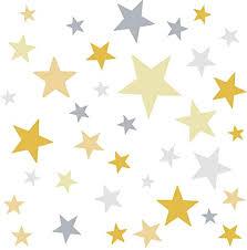 deco wandaufkleber 60 sterne kinderzimmer mädchen junge i gelb grau i wandtattoo schlafzimmer wandsticker set wohnzimmer bunt