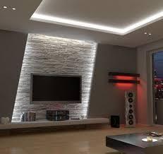 fascia wandbeleuchtung wohnzimmerwand ideen