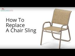 Replacement Patio Chair Slings by How To Replace A Chair Sling Youtube