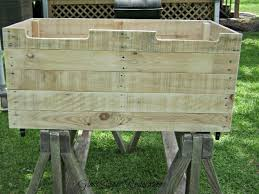 a toybox made from pallet wood hometalk
