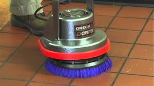 Clarke Floor Buffer Pads by Oreck Orbiter Floor Machine Tile Cleaning Youtube