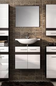 badset badezimmer 2 teilig eiche dunkel weiß hochglanz neu
