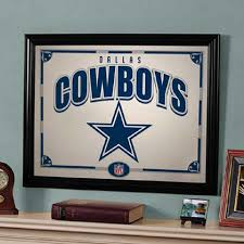 Dallas Cowboys Home Decor by Dallas Cowboys Black Framed Mirror Home Decor Home U0026 Office