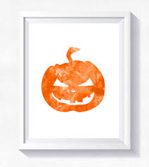 Scary Pumpkin Faces Printable by Halloween Print Halloween Pumpkin Print Scary Pumpkin
