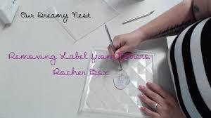 Ferrero Rocher Christmas Tree Box removing labels from ferrero rocher box youtube