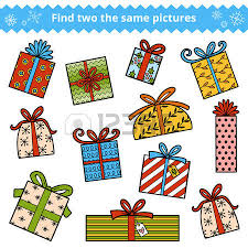Find two the same pictures education game for children Color set of Christmas ts