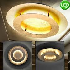 details zu led decken le schlafzimmer küchen design rund loft leuchte gold farben 40 cm
