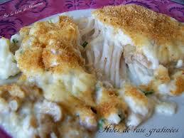 cuisiner la raie au four ailes de raie gratinées sur la table de nounoune