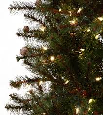 Slim Rustic Pine Artificial Christmas Tree