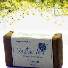 Organic Neem Soap Rustic Art Chemical Free Healer All Skin Types