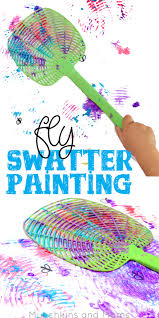 Fly Swatter Painting What A Blast Preschoolers Would Love This Process Art Activity
