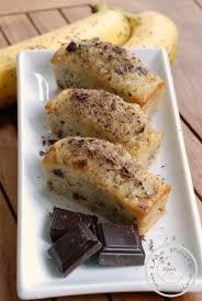 dessert rapide chocolat banane gâteau moelleux à la banane et aux pépites de chocolat sans beurre