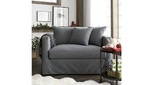 willow grey twin sofa sleeper with air mattress crate and barrel