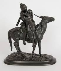 Desk Set 1957 Cast by A Russian Cast Iron Figure Of A Cossack On Horseback 1912 Russia