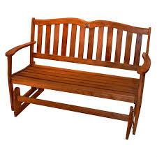 Patio Furniture Loveseat Glider by 4 Ft Outdoor Patio Garden Love Seat Glider Chair In Natural