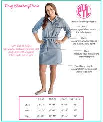 women u0027s chambray dress size chart