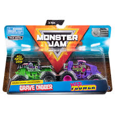 100 Monster Truck Track Set Spin Master Jam Jam Official Grave Digger Vs