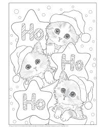 Santas Kitty Helpers Holiday Coloring Book Design Originals Amazoncouk