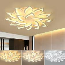 moderne dimmbare led acryl deckenleuchte le wohnzimmer