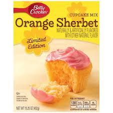 Betty Crocker Orange Sherbet Limited Edition Cupcake Mix 1525 Oz