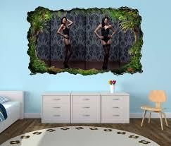 3d wandtattoo erotik frau korsett strümpfe schwarz schlafzimmer po collage selbstklebend wandbild wandsticker wohnzimmer wand aufkleber 11o354