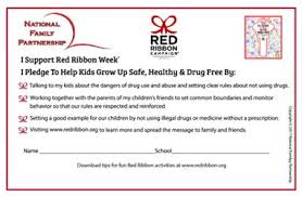 Picture Monday October 23rd Pledge To Be Drug Free Wear Red School