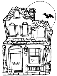 Free Printable Coloring Page Haunted House Pages