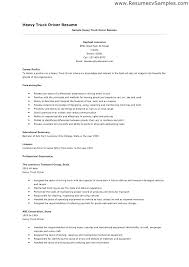 Truck Driver Resume Sample Free Plus Samples