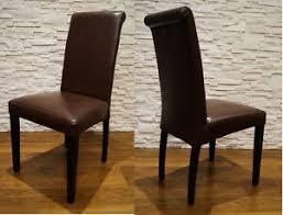 details zu dunkelbraun echtleder stuhl 100 echt leder stühle lederstühle esszimmer stuhl