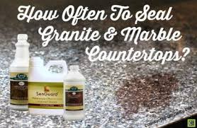 how often to seal granite