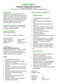 Graduate Management Consultant Manager CV