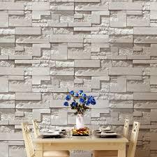moderne gestapelte ziegel 3d stein tapete rolle grau ziegel tapete wand hintergrund tapete für wohnzimmer pvc vinyl wand papier