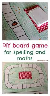 DIY Board Game For Kids Great Spelling Games Or Math