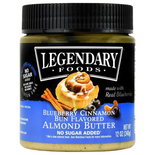 Legendary Foods Almond Butter, Blueberry Cinnamon Bun - 12 oz jar