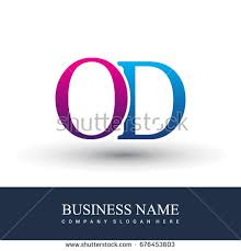 Initial Letter Logo Od Colored Red Stock Vector Shutterstock